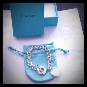 Tiffany & Co. Vintage Toggle Heart Silver Bracelet